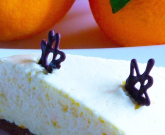 Cheesecake allo yogurt home-made e arancia...ciao ciao con la manina!!!