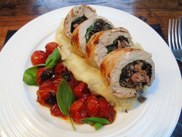 Seriously Easy Stuffed Chicken Ballotine | Slimming World