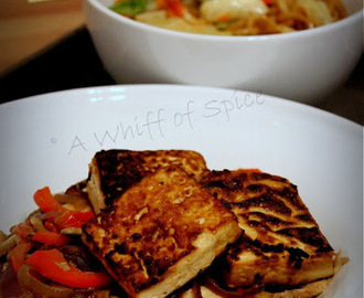 Tofu Steak with Mushroom Sauce