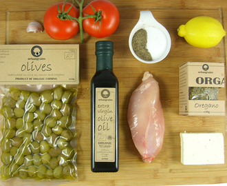 Summery Chicken Recipe With Green Olives!