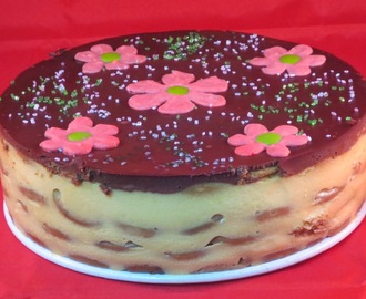 Tarta de galletas y flan Thermomix
