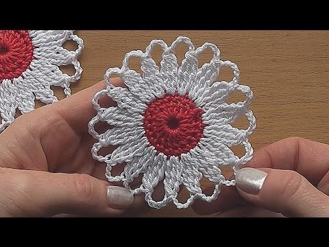 CROCHET Flower Motif Easy Tutorial
