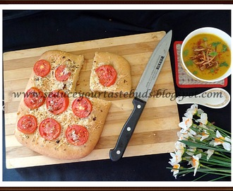 Focaccia Caprese - We Knead To Bake