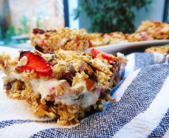 Strawberry Cheesecake Breakfast Bars | Slimming World