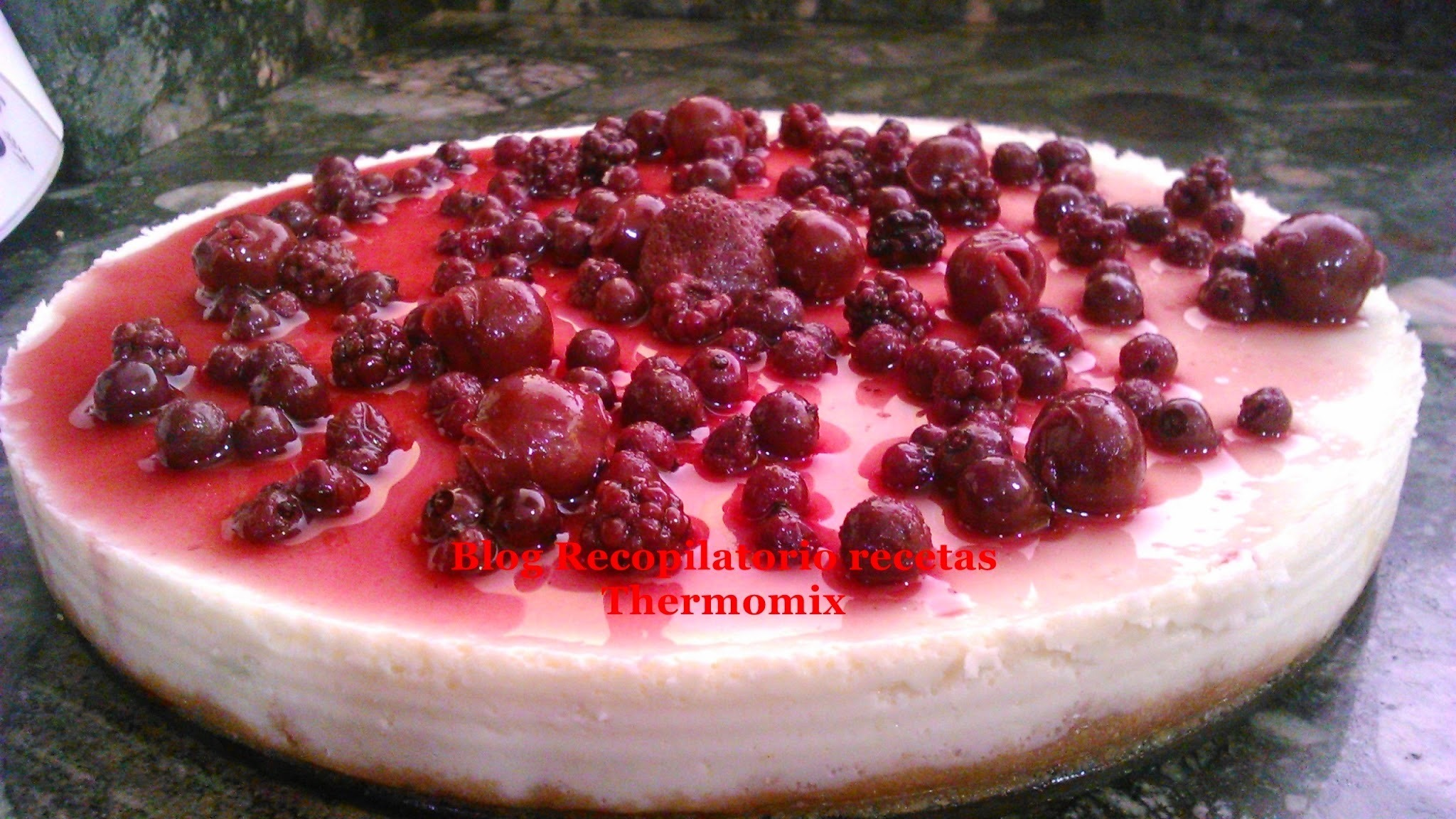 Tarta de queso y chocolate blanco en thermomix