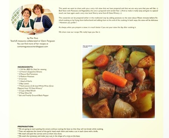 BEEF STEW WITH POTATOES AND VEGETABLES (ESTOFADO DE CARNE CON PATATAS Y VERDURAS)