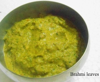 BRAHMI LEAVES / VALARAI KEERAI CHUTNEY | HEALTHY CHUTNEY RECIPE
