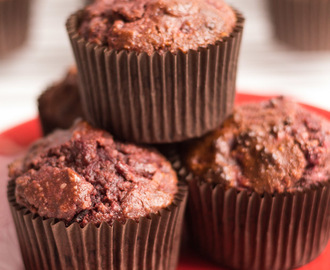 Gluten Free Chocolate and Beetroot Muffins