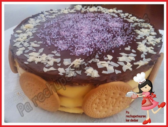 *Tarta de galletas y flan (thermomix)
