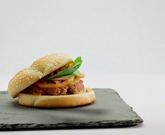 Receta Top Chef: Mini hamburguesa de mostaza picante