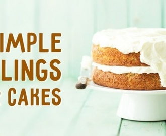 Eight simple fillings for cakes which you can make in no time at all