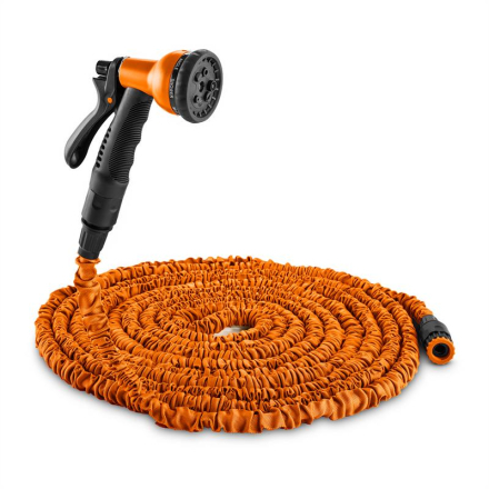 DURAMAXX Water Wizard 22 flexibel trädgårdsslang 8 funktioner 22,5m orange