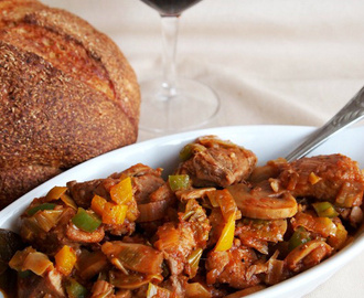 Braised Pork with Leeks and Mushrooms