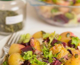 Mackerel Beetroot Salad