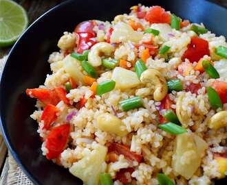 Vegan Fried Rice with Pineapple
