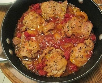 Crock Pot Chicken Cacciatore (low carb, paleo low fat, healthy)
