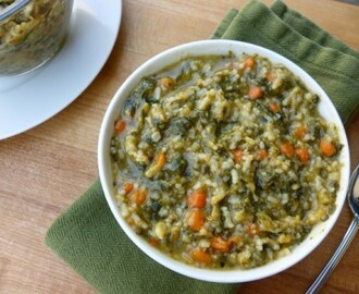 Carrot Spinach Rice Stew