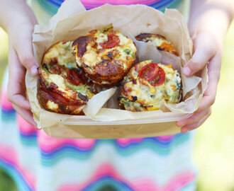 Mini Crustless Quiches Lunchbox Recipe