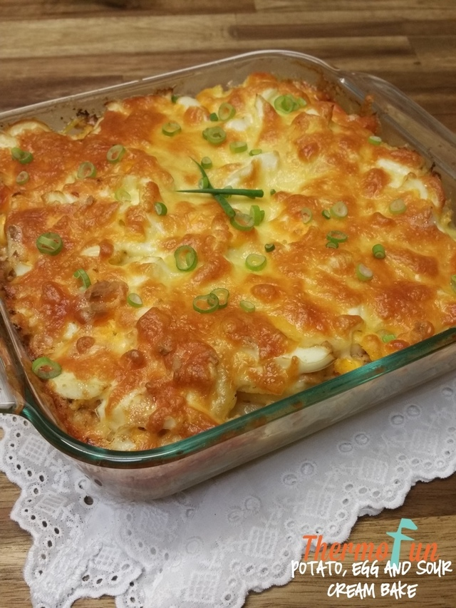 Potato, Egg and Sour Cream Bake Recipe
