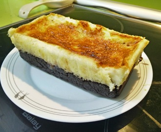 Brownie de Chocolate con Tarta de Queso y Nueces