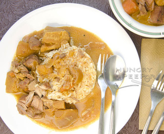 Fusion Coconut Curry Pork Stew