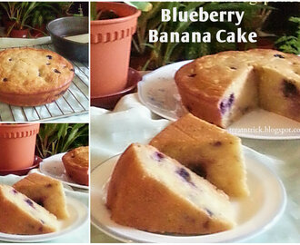 BLUEBERRY BANANA  CAKE RECIPE