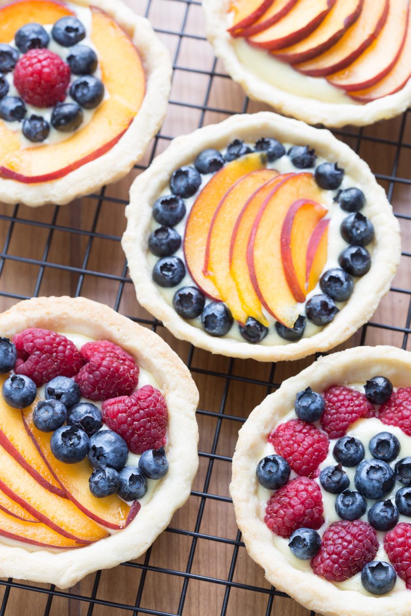 Sweet Summer Fruit Tarts