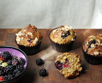 Blackberry and Oat Muffins