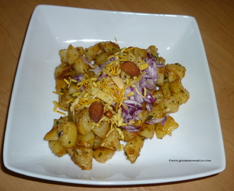 Alu Chaat (Potato tangy snack)