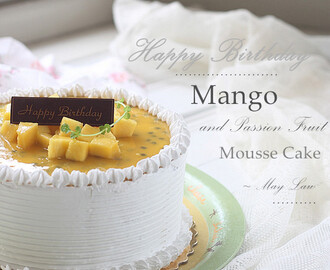 芒果百香果慕斯棉花蛋糕【Mango and Passion Fruit Mousse Cotton Cake】