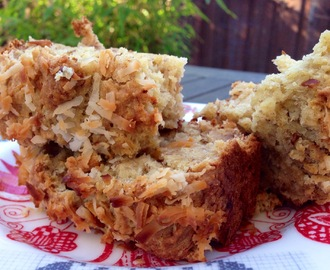 Banana Persimmon Bread with Toasted Coconut