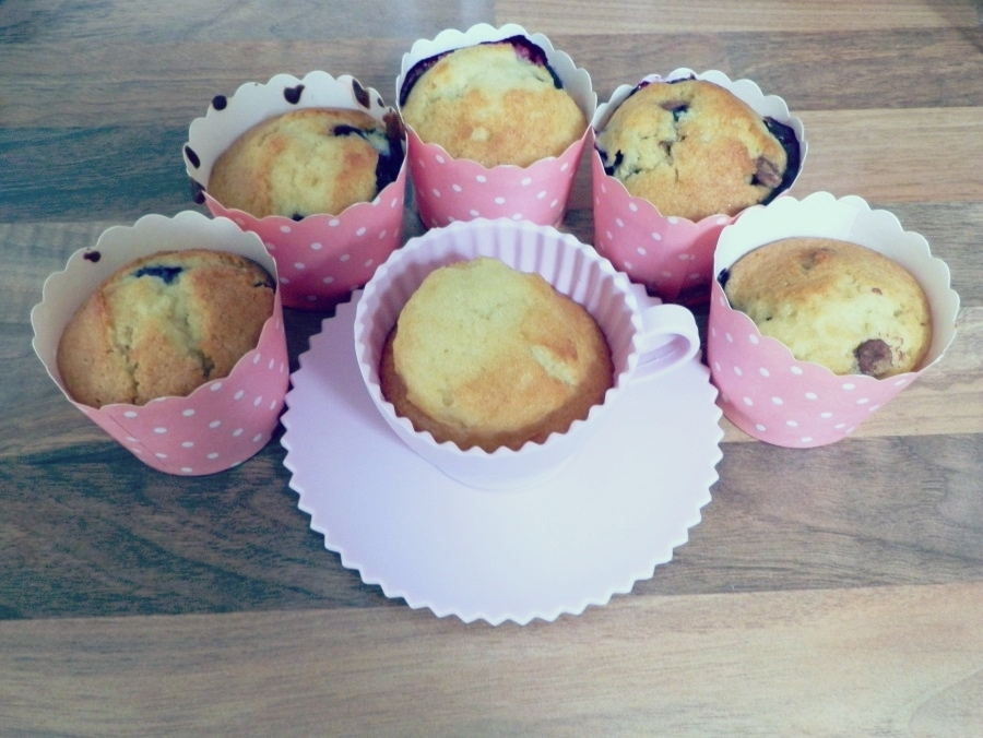 Chocolate Chip Blueberry Muffins Recipe