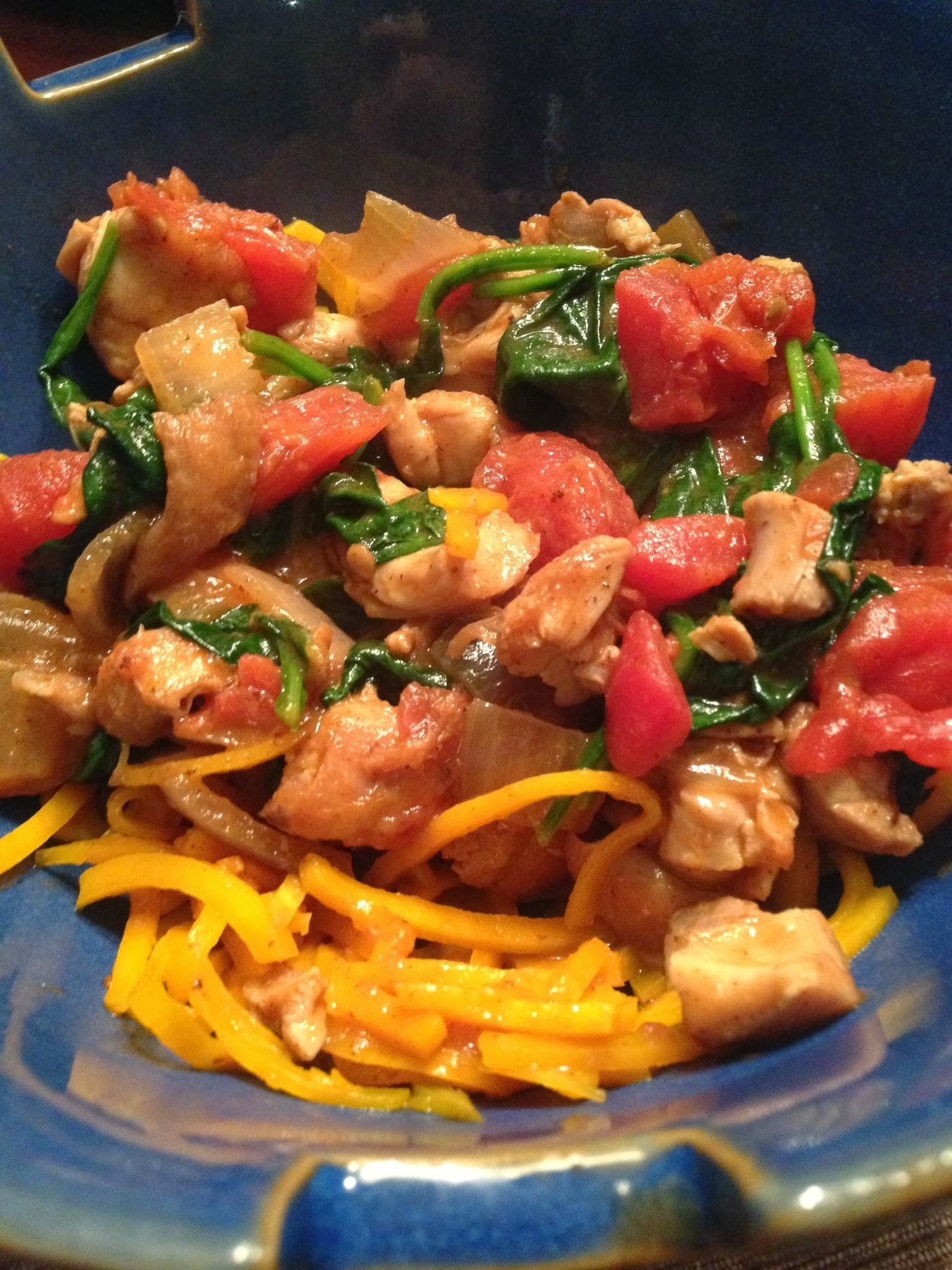 Red Curry Chicken with Butternut Squash Noodles