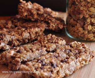 Chewy S'mores Granola Bars Made at Home!