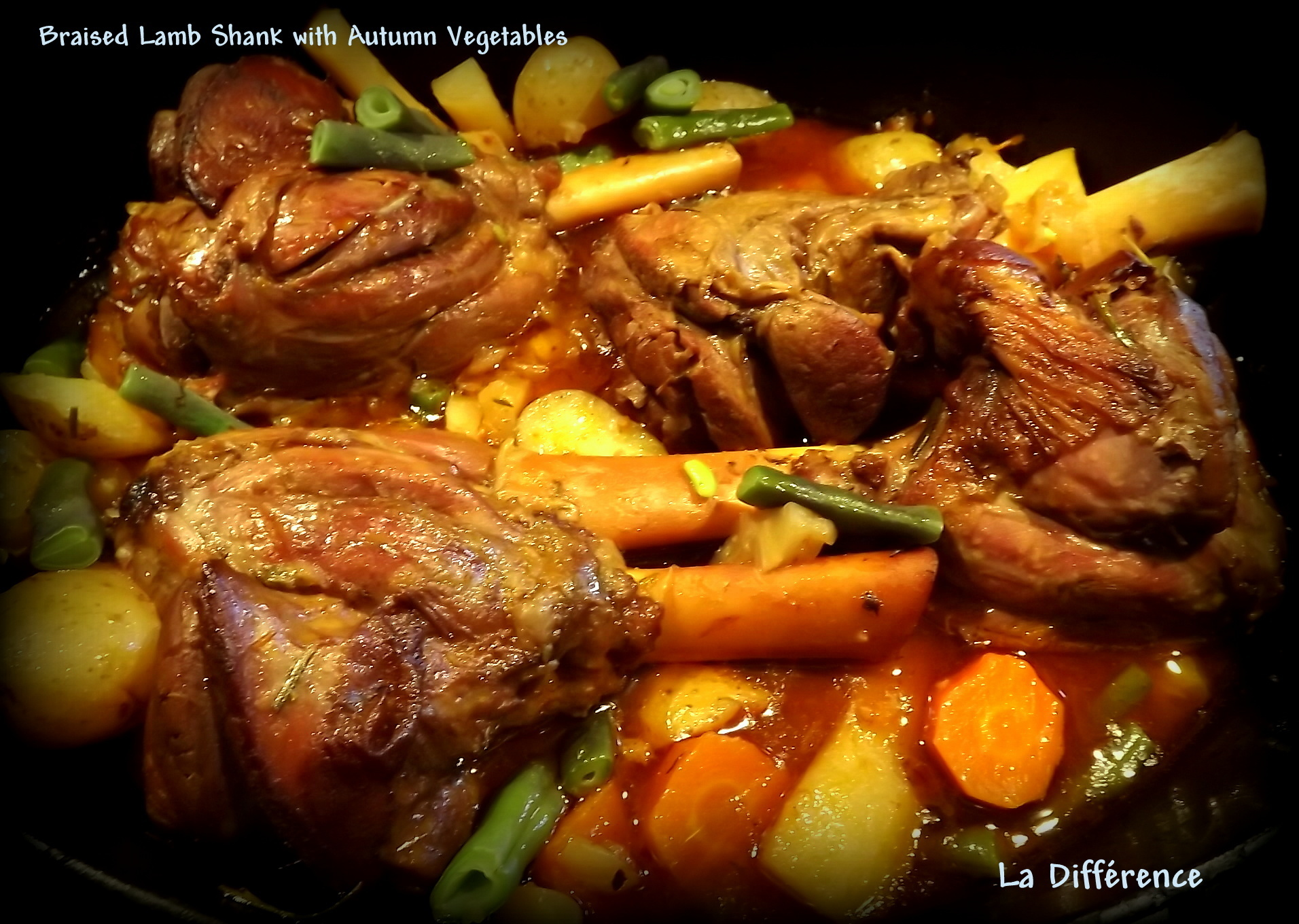 Braised Lamb Shanks with Autumn Vegetables