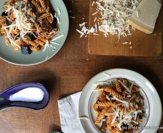 Sicilian Pasta Alla Norma Fusilli with Roasted Aubergines in Tomato Sauce Recipe