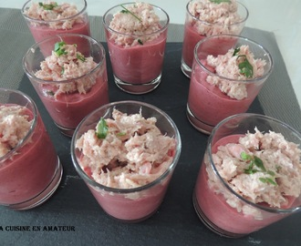 Mousse de betteraves et thon
