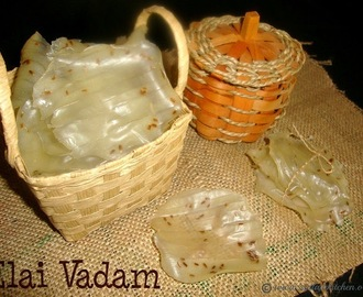 Elai Vadam Recipe / Stand Vadam / Yelai Vadam / Steamed Vadam Recipe -  A Traditional South Indian Rice Papad