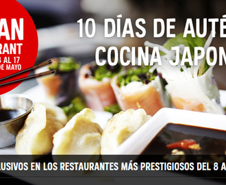 Japan Restaurant Week Barcelona y Madrid 2015