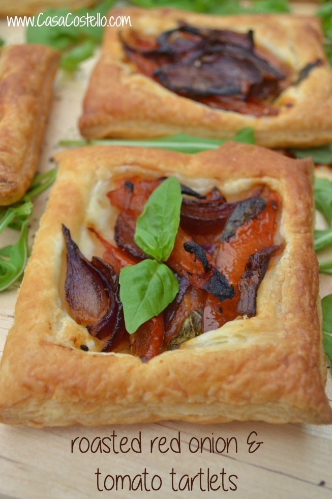 Roasted Red Onion & Tomato Tartlets – Bake of the Week