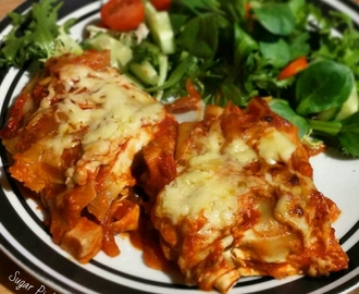 Slimming World Friendly Recipe-  Mexican Enchilada Lasagne
