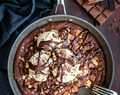Triple Chocolate Skillet Brownies