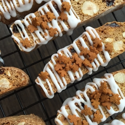 Gingerbread Biscotti for a Great British Bake Off get together