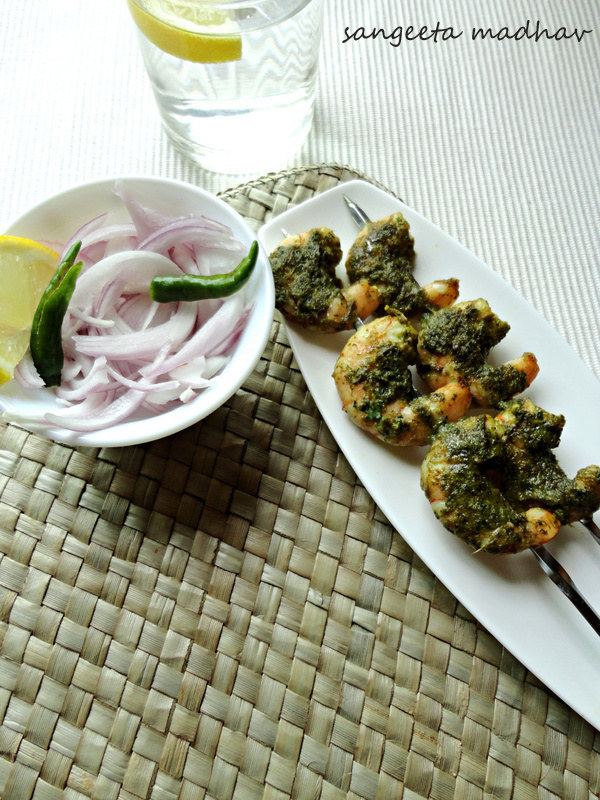 Grilled Fenugreek Prawns... And Focusing Broad:)