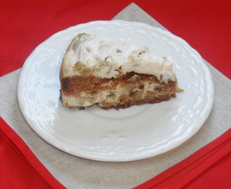 Honey cake with walnuts and mascarpone