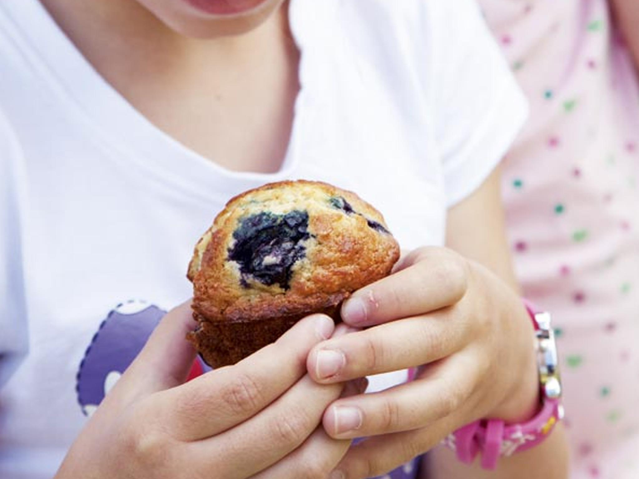 Banana blueberry yoghurt muffins