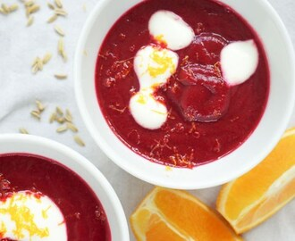 Beetroot Fennel Seed & Orange Soup
