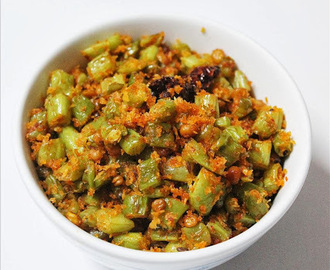 Beans sabzi recipe | beans poriyal | French beans stir fry recipe