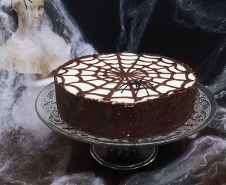 Halloween: Tarta de Queso y Chocolate sin horno