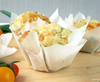 Courgette & Salad Onion Muffins